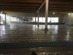 Insulation and vapor barrier installation