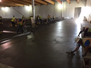 Floor starting to get poured.